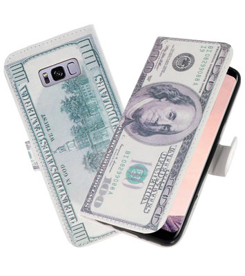 Dollar booktype wallet case Hoesje voor Samsung Galaxy S8 Plus