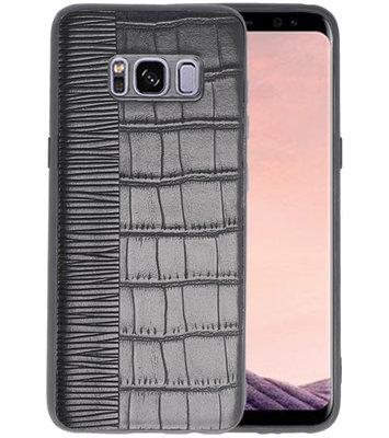 Croco Zwart hard case hoesje voor Samsung Galaxy S8