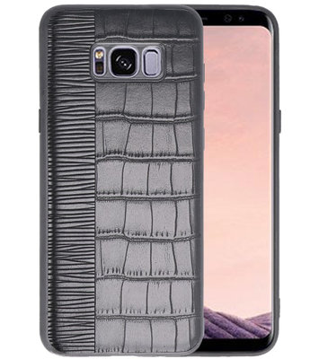 Croco Zwart hard case hoesje voor Samsung Galaxy S8 Plus