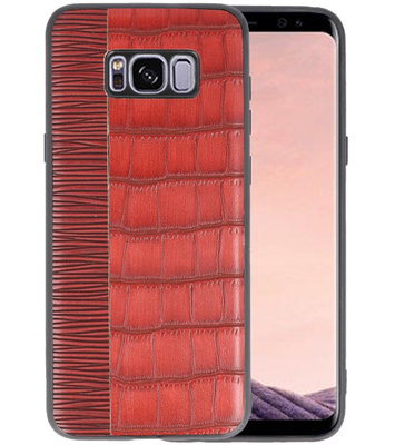 Croco Rood hard case hoesje voor Samsung Galaxy S8 Plus