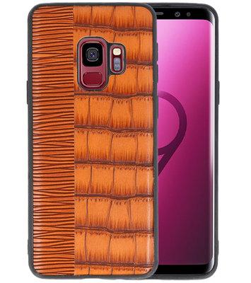 Croco Bruin hard case hoesje voor Samsung Galaxy S9