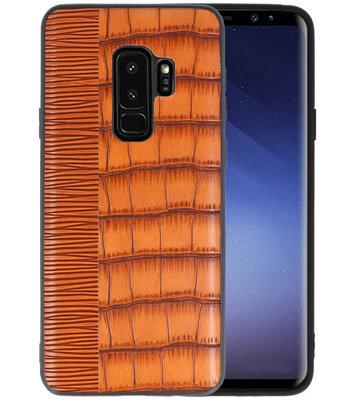 Croco Bruin hard case hoesje voor Samsung Galaxy S9 Plus