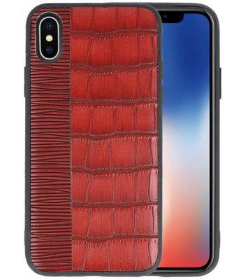 Croco Rood hard case hoesje voor Apple iPhone X