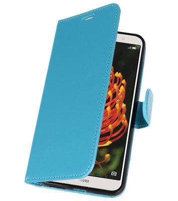 Turquoise Wallet Case Hoesje voor Huawei Y6 2018