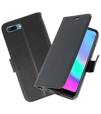 Zwart Wallet Case Hoesje voor Huawei Honor 10
