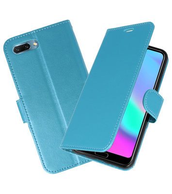 Turquoise Wallet Case Hoesje voor Huawei Honor 10