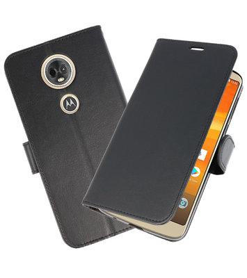 Zwart Wallet Case Hoesje voor Motorola Moto E5 / G6 Play