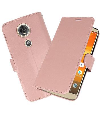Roze Wallet Case Hoesje voor Motorola Moto E5 / G6 Play
