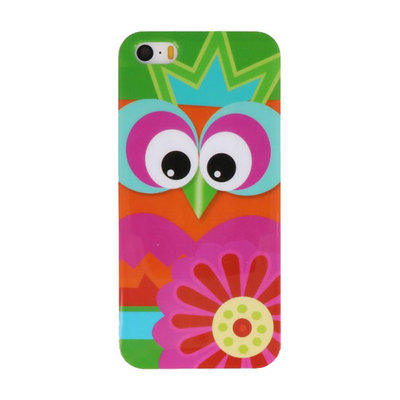 Bloem Uil Hard case cover hoesje voor Apple iPhone 5/5s/SE