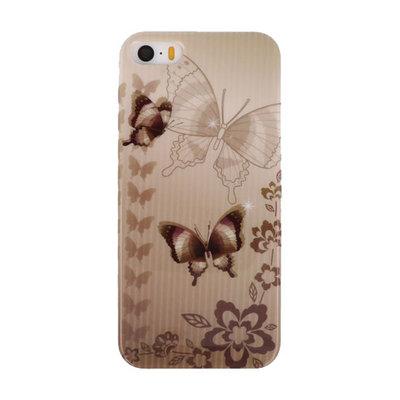 Bruin Vlinder Hard case cover hoesje voor Apple iPhone 5/5s/SE