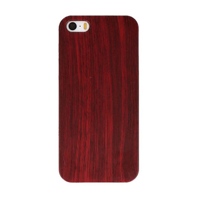Rood Hout Hard case cover hoesje voor Apple iPhone 5/5s/SE