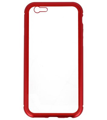 Rood Transparant Magnetisch Back Cover Hoesje voor Apple iPhone 6 / 6s