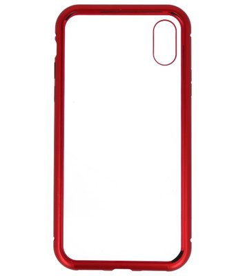 Rood Transparant Magnetisch Back Cover Hoesje voor Apple iPhone X