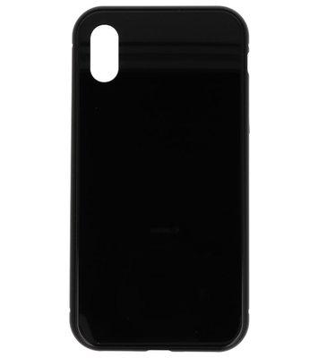 Zwart Magnetisch Back Cover Hoesje voor Apple iPhone X