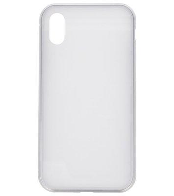 Wit Magnetisch Back Cover Hoesje voor Apple iPhone X