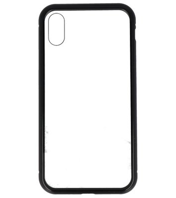 Zwart Transparant Magnetisch Back Cover Hoesje voor Apple iPhone X