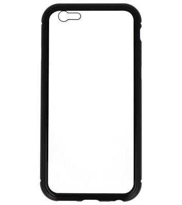 Zwart Transparant Magnetisch Back Cover Hoesje voor Apple iPhone 6 / 6s