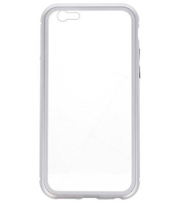Zilver Transparant Magnetisch Back Cover Hoesje voor Apple iPhone 6 / 6s