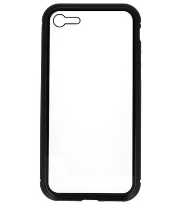 Zwart Transparant Magnetisch Back Cover Hoesje voor Apple iPhone 7 / 8
