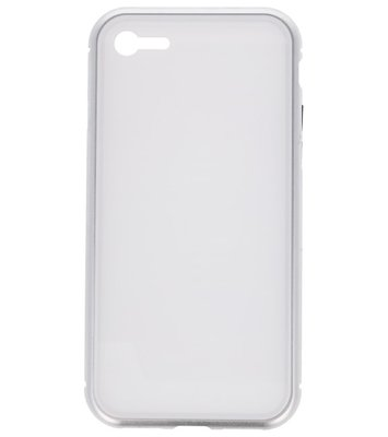 Wit Magnetisch Back Cover Hoesje voor Apple iPhone 7 / 8