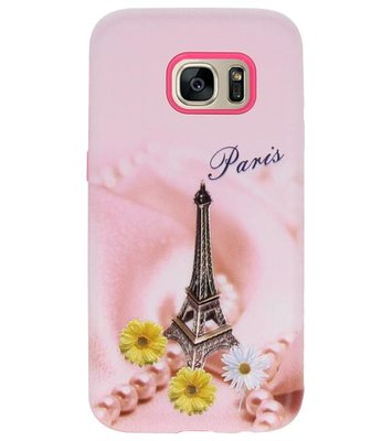 Paris  3D Print Hard Case voor Samsung Galaxy S7