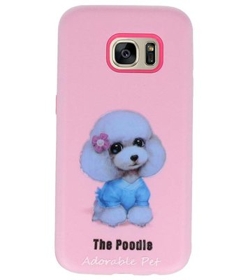 The Poodle 3D Print Hard Case voor Samsung Galaxy S7