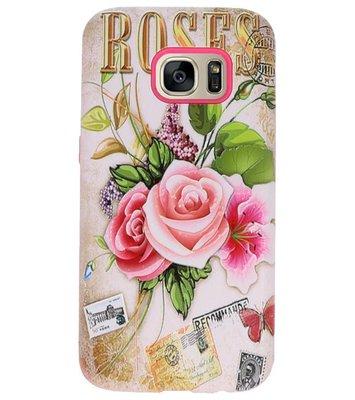 Roses 3D Print Hard Case voor Samsung Galaxy S7