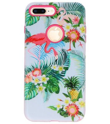 Flamingo 3D Print Hard Case voor Apple iPhone 7 Plus / 8 Plus