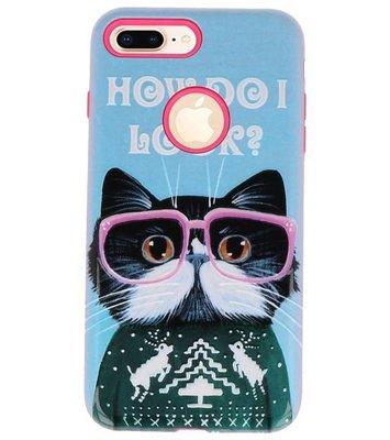 I Look 3D Print Hard Case voor Apple iPhone 7 Plus / 8 Plus