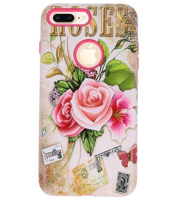 Roses 3D Print Hard Case voor Apple iPhone 7 Plus / 8 Plus