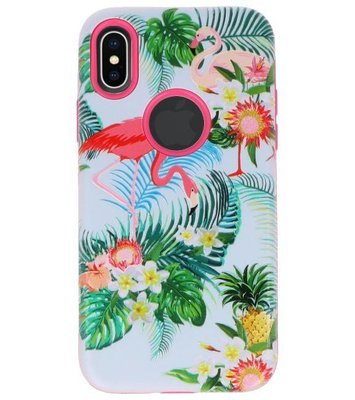 Flamingo 3D Print Hard Case voor Apple iPhone X