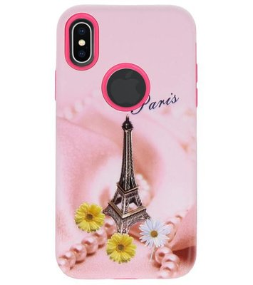 Paris 3D Print Hard Case voor Apple iPhone X