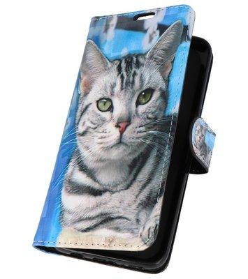 Kat Bookstyle Hoesje voor Samsung Galaxy S8