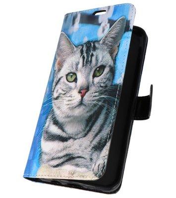 Kat Bookstyle Hoesje voor Samsung Galaxy S8 Plus