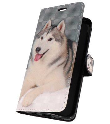 Hondje Bookstyle Hoesje voor Samsung Galaxy S9 Plus