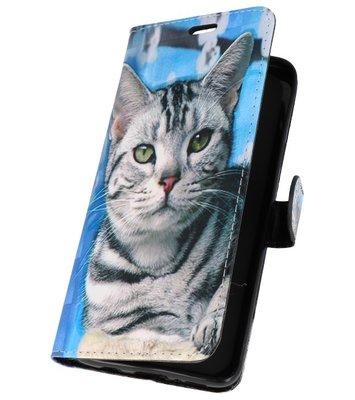 Kat Bookstyle Hoesje voor Samsung Galaxy S9 Plus
