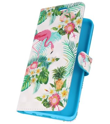 Flamingo Bookstyle Hoesje voor Samsung Galaxy S9 Plus