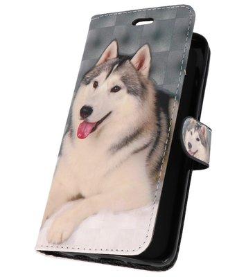 Hondje Bookstyle Hoesje voor Samsung Galaxy S9