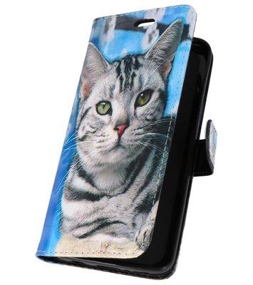 Kat Bookstyle Hoesje voor Samsung Galaxy S9