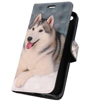 Hondje Bookstyle Hoesje voor Huawei P10 Lite