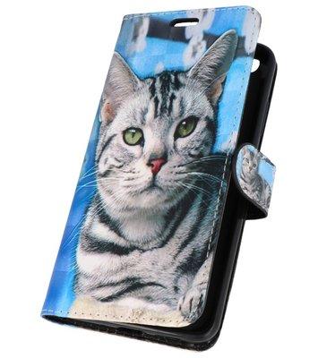 Kat Bookstyle Hoesje voor Huawei P10 Lite