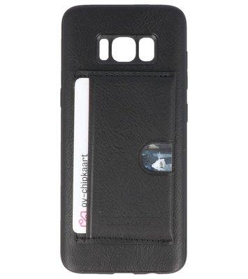 Zwart Hardcase cover Hoesje voor Samsung Galaxy S8