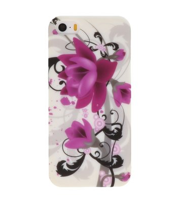 Paars Lilly Hard case cover hoesje voor Apple iPhone 5/5s/SE