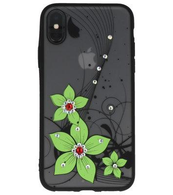 Groen Diamant Narcis Back Cover Hoesje voor iPhone X
