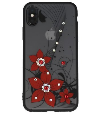Rood Diamant Narcis Back Cover Hoesje voor iPhone X