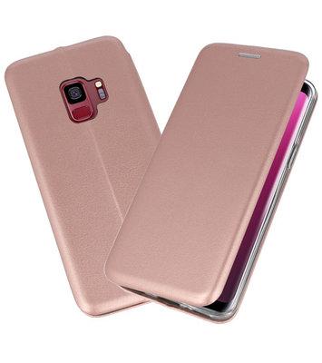 Roze Premium Folio Booktype Hoesje voor Samsung Galaxy S9