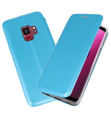 Blauw Premium Folio Booktype Hoesje voor Samsung Galaxy S9