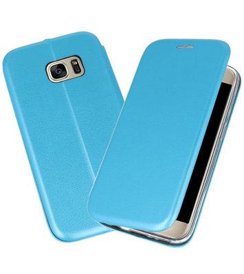 Blauw Premium Folio Booktype Hoesje voor Samsung Galaxy S7