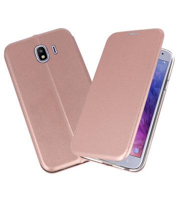 Roze Premium Folio Booktype Hoesje voor Samsung Galaxy J42018