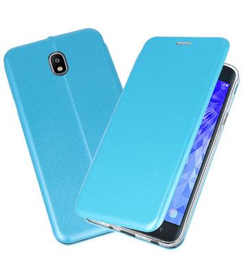 Blauw Premium Folio Booktype Hoesje voor Samsung Galaxy J7 2018